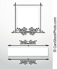 ornamental, vitoriano, frames.vector.