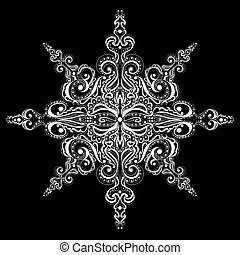 Ornamental white snowflake