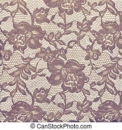 Ornamental wine-colored and soft yellow floral vintage...