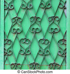 ornamental wrought iron green wall grunge fabric abstract texture wallpaper