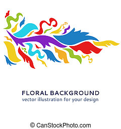 ornamentale, arte, colorito, illustrazione, fondo., vettore, disegno, tuo