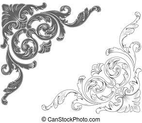 ornamentale, classico, angoli