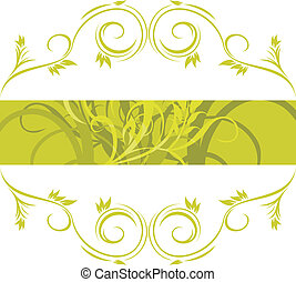 ornamentale, cornice, verde