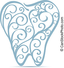 ornamentale, disegno, dente