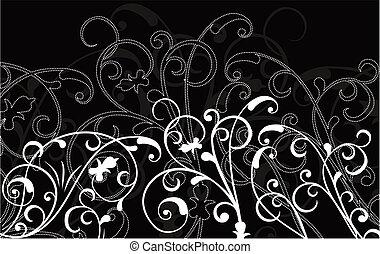 ornamentale, fondo, vettore
