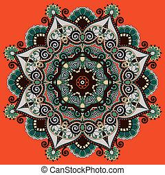 ornamentale, laccio, modello geometrico, ornamento, doily, ...
