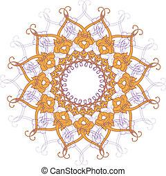 ornamentale, laccio, ornament., cerchio, rotondo