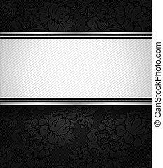 ornamentale, nero, tessuto, struttura, fondo