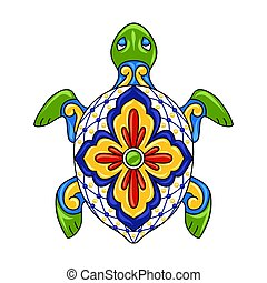 ornamentale, turtle., messicano