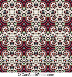 ornamentale, vettore, pattern., seamless