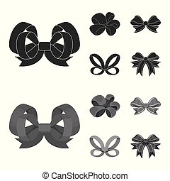 Ornamentals, frippery, finery and other web icon in black, ...