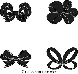 Ornamentals, frippery, finery and other web icon in black ...