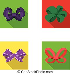 Ornamentals, frippery, finery and other web icon in flat ...