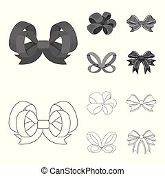Ornamentals, frippery, finery and other web icon in outline...