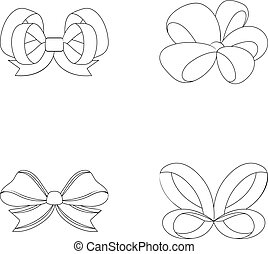 Ornamentals, frippery, finery and other web icon in outline ...