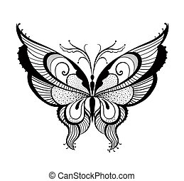 Ornamented abstract butterfly