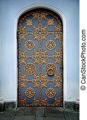 Ornamented gold door