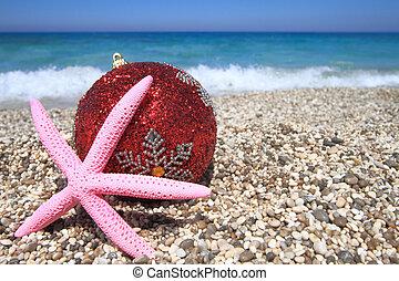 ornamenti natale, spiaggia