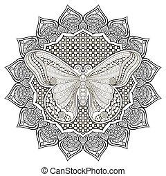 ornamento, bonito, butterfly.