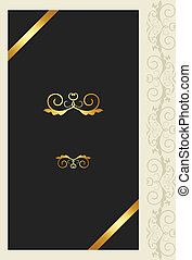ornamento, cartão cumprimento