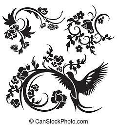 ornamento, cinese, serie