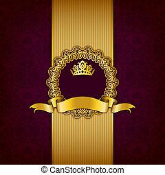 ornamento, cornice, lusso, fondo