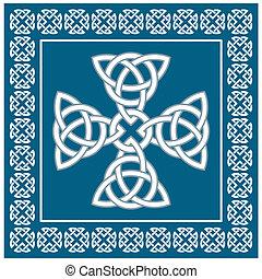 ornamento, croce celtica, illustrazione, eternità