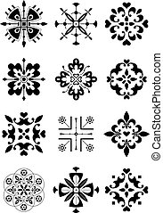ornamento, decoração, padrão
