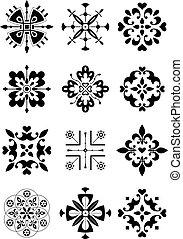 ornamento, decoración, patrón