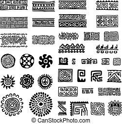 ornamento, diseño, hechaa mano, su, étnico