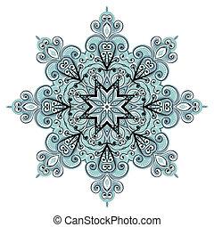 ornamento, diseño, su, arabesco