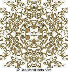 ornamento, elemento, vitoriano, vetorial, ornate, barroco, style., design.
