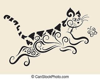 ornamento, gatto