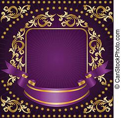 ornamento, nastro oro