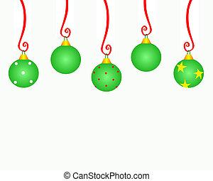 ornamento natal, copyspace