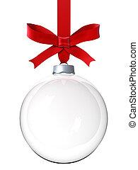 ornamento, natal, vazio