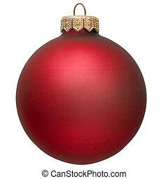 ornamento, natal, vermelho