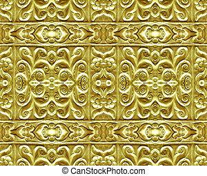 ornamento, oro, placcato