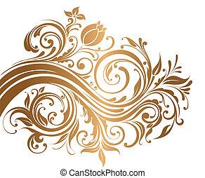 ornamento, ouro