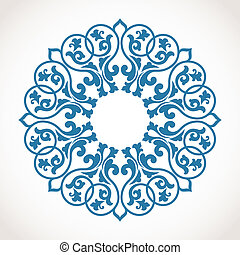ornamento, pattern., redondo