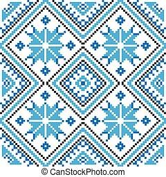 ornamento, pattern., seamless, ilustración, vector, étnico