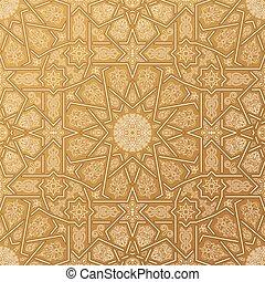 ornamento, pattern., seamless, marocchino, islamico, arabo, geometrico