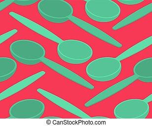 ornamento, pattern., seamless, struttura, coltelleria, cucchiaio, fondo
