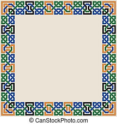 ornamento, seamless, colorido, morisco, mosaico