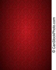 ornamento, sfondo rosso
