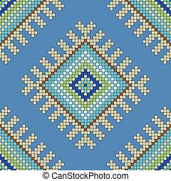ornamento, vetorial, seamless, padrão
