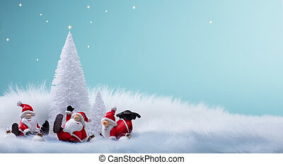 ornamentos, árvore, feriados, decoração, santa, natal