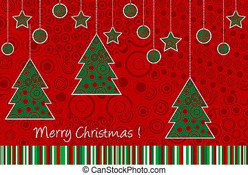 ornamentos, cartão natal