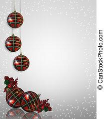 ornamentos, natal, borda
