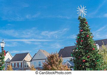 ornamentos, pelotas, día, vidrio, navidad, copo de nieve, ...